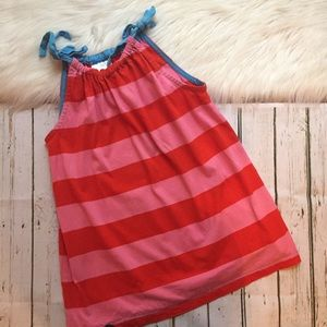 Hanna Andersson Pink And Red Striped Top